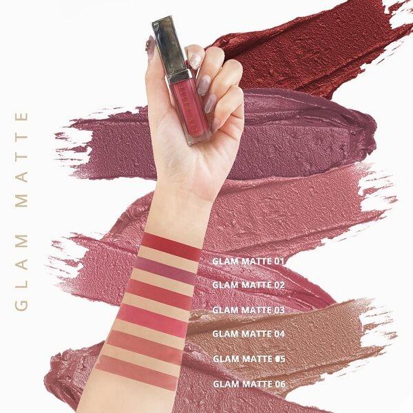 pilihan warna lipstik glam matte ms glow