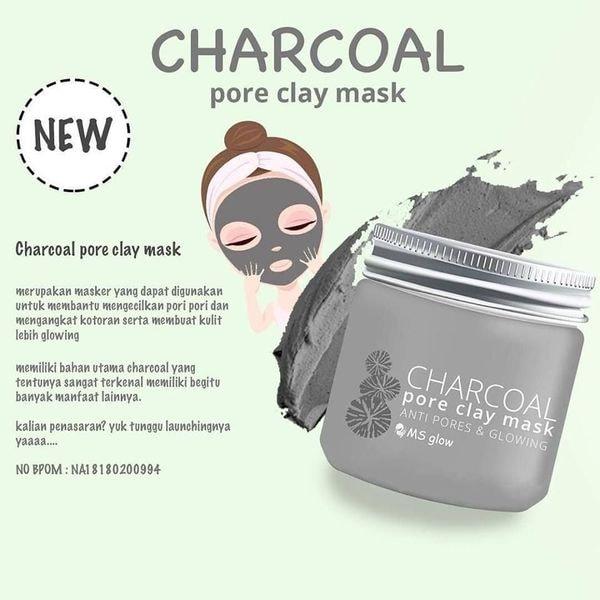 masker wajah charcoal ms glow