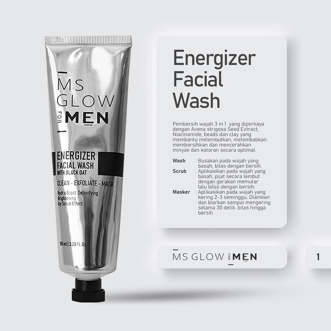 ms glow energizer facial wash